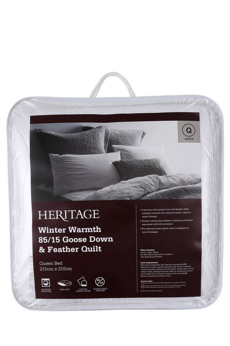 Heritage Winter Warmth 85/15 高级冬季 鹅毛羽绒被 低至4折优惠!
