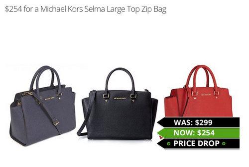Michael Kors Selma Large Top Zip Bag 经典女包 多色可选 团购价只要$254!