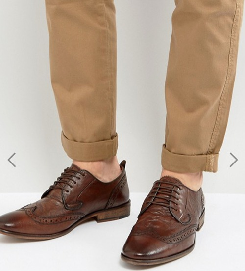 Steve Madden Analog Brogue Lace Up 男款皮鞋 现价只要$130!