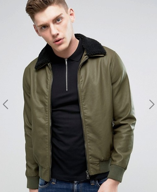 Barneys Faux Leather 男士皮夹克 现价只要$99!
