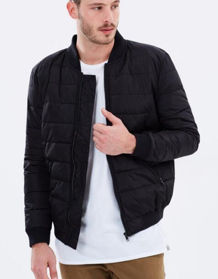 Staple Superior Cooper Quilted Bomber 男士短款休闲棉衣 折后只要$41.97!