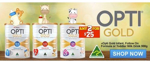 OPTI GOLD  金装婴幼儿奶粉 1/2/3 段 2罐只要$25!