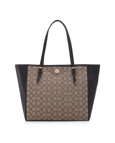 COACH 蔻驰 Signature Turnlock Tote 手提包