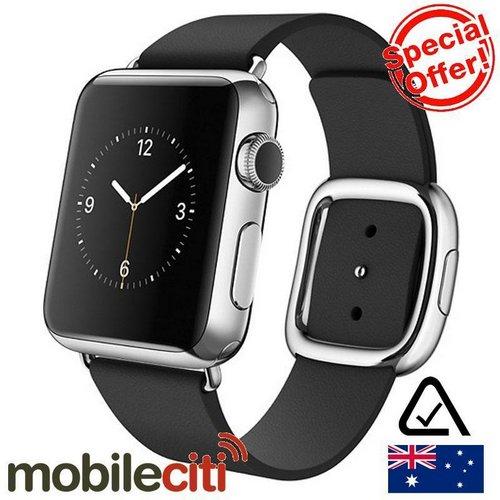 苹果 Apple Watch 38mm MJYL2X/A 不锈钢表壳黑色现代扣 智能手表 折后只要$385!