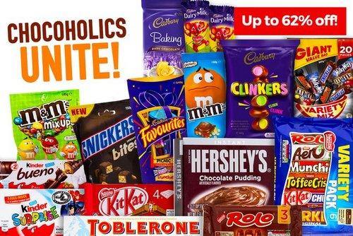 澳洲特卖网站 Catch 巧克力特卖会 超多品牌、口味可以选择!