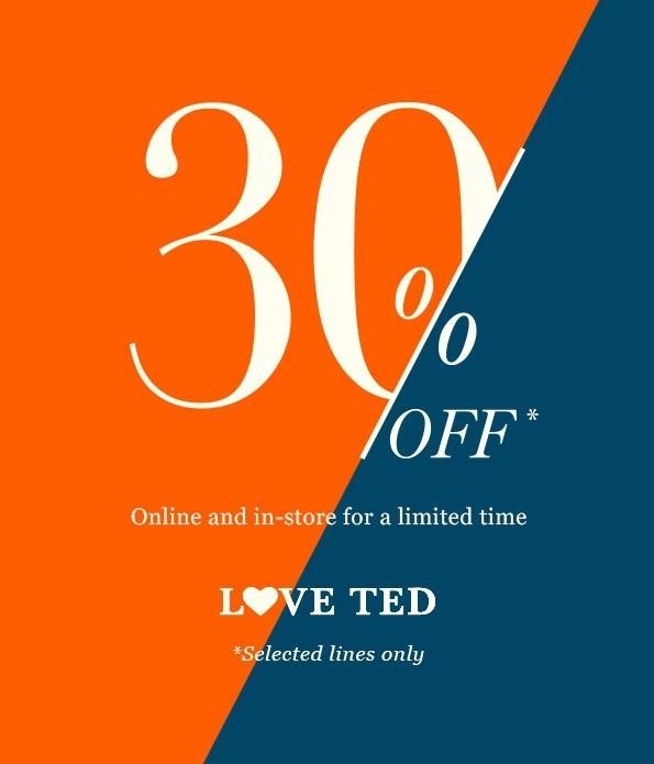 英伦时尚品牌 Ted Baker 澳洲官网特价活动:部分精选时尚服装、包包、鞋子等商品