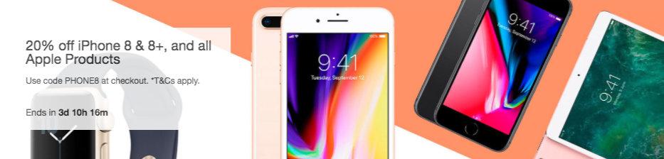 Dick Smith eBay 店包括 iPhone 8 & 8+ 在内的所有苹果品牌商品额外8折优惠!