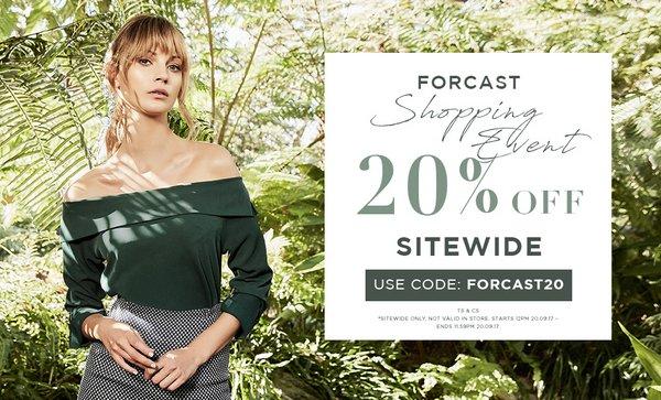 时尚女装品牌 Forecast 全场所有商品额外