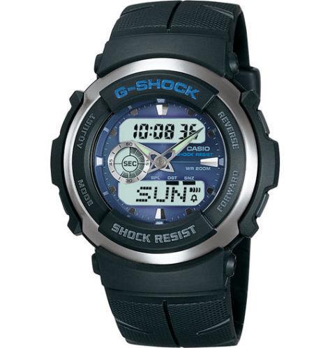 卡西欧 CASIO G-Shock G300-2A 时尚双显日历石英男款手表