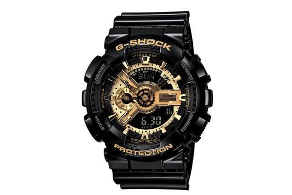 Casio G-SHOCK GA-110GB 男士运动黑金防水运动手表 低于半价!