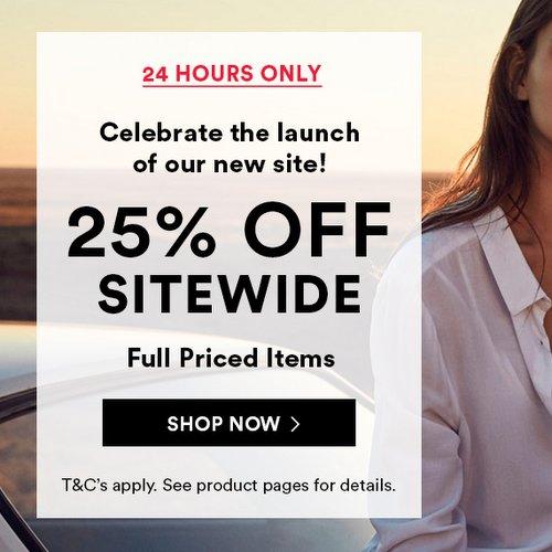 服装品牌 Cotton On 全场所有全价商品额外75折优惠!