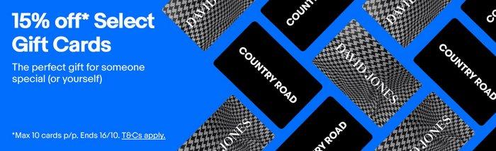 David Jones 及 Country Road 代金券现额外85折优惠!