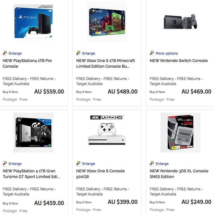 Target 官方eBay 店:任天堂、微软、索尼等品牌游戏机用码后可享