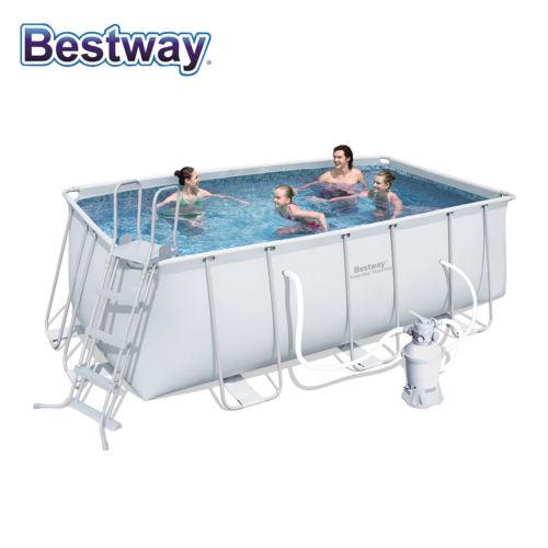 Bestway  4.12m x 2.01m 超大地上私家游泳池 低至27折优惠!