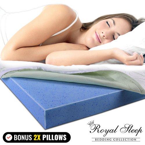 COOL GEL 8厘米厚 竹纤维 记忆棉 床垫套 23折优惠!还送2个记忆棉枕头!