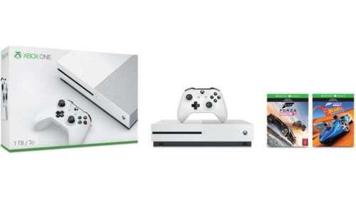 微软 Xbox One S 1TB 游戏主机 + Forza Horizon 3 游戏套装 8折优惠!