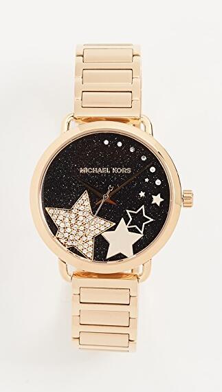 Michael Kors Celestial Portia 36毫米 金色不锈钢手表
