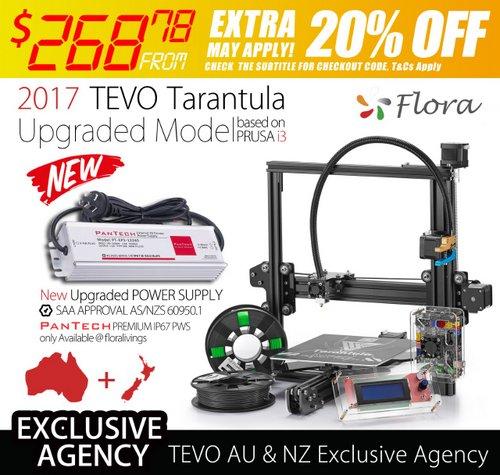 2017年升级版 TEVO Tarantula 狼蛛桌面级高精度 家用 教育 3D打印机 8折优惠!
