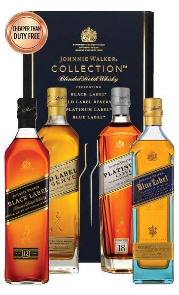 Johnnie Walker The Collection 苏格兰威士忌 4*200mL 套装(黑方、金方、蓝方、铂方各一瓶)