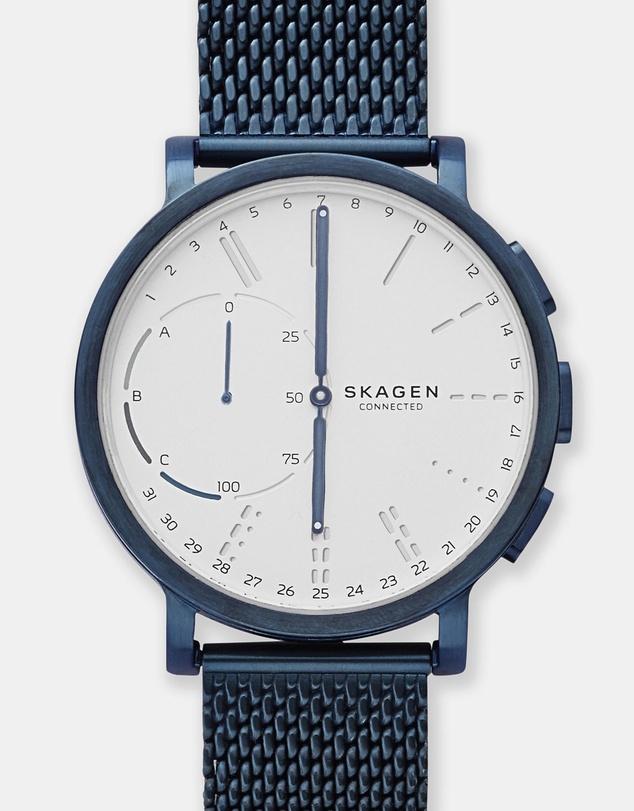 Skagen Hybrid Smartwatch Hagen Connected 蓝色智能手表 7折优惠!