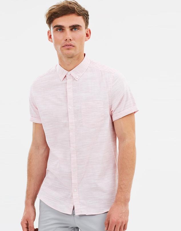 Burton Menswear SS Space Dye 粉色男士短袖衬衫 85折优惠!