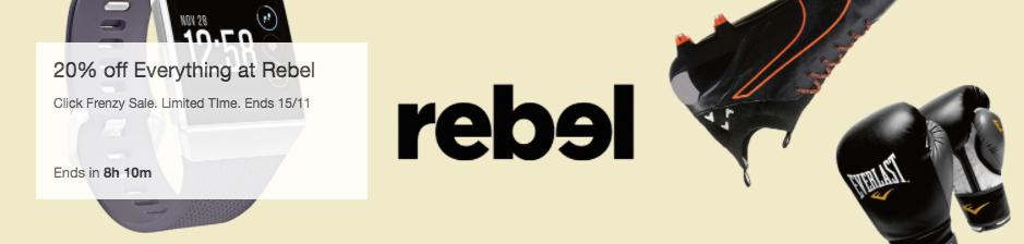 运动产品专卖店 Rebel 官方 eBay 店:健身器材、运动手环等多种类商品8折优惠!