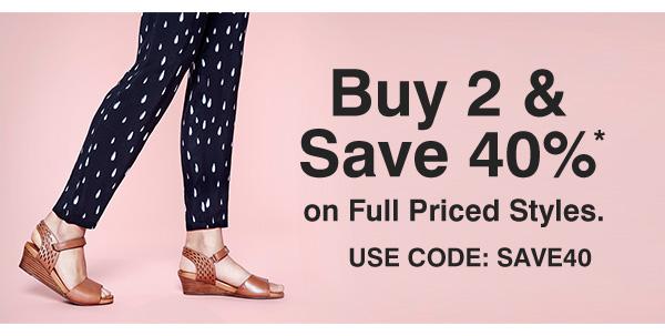 鞋履品牌 Hush Puppies 全价商品购买两件以上 可选额外6折优惠!