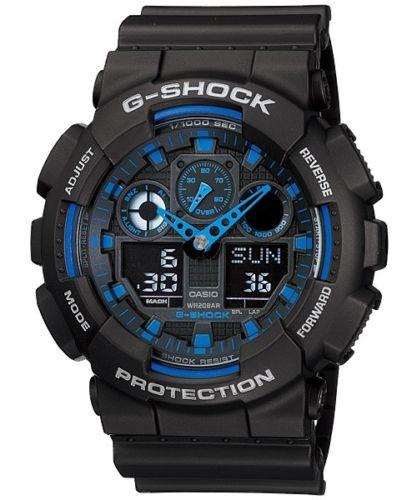 卡西欧 Casio G-Shock GA-100-1A2 XL 大号双显男士运动手表 – 低至4折优惠!