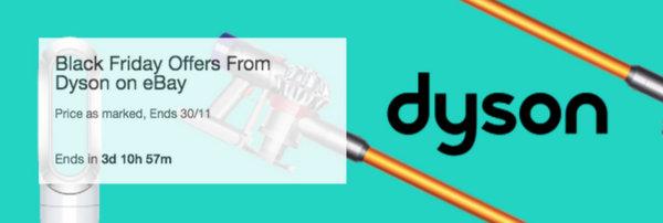 "Dyson 官方 eBay 店""黑五""活动:部分精选商品低至 64折优惠!"