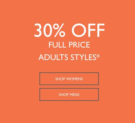 鞋履品牌 Clarks 特价活动:全价商品 额外7折优惠!