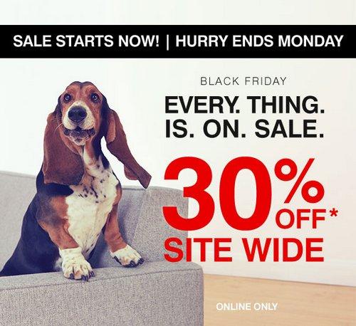 """鞋履品牌 Hush Puppies """"Cyber Monday""""活动:全场所有商品 额外7折优惠!"""