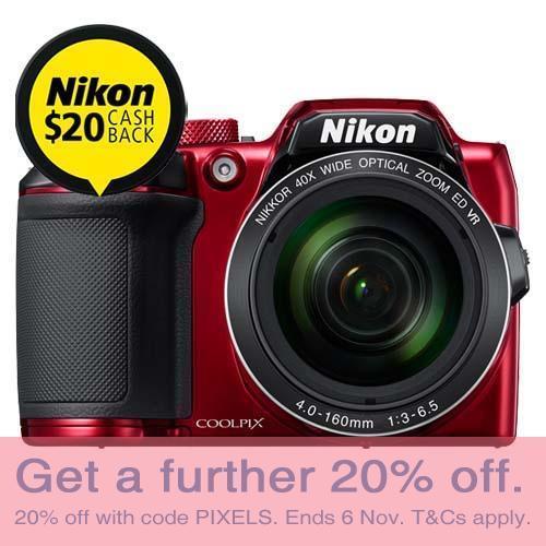 尼康 Nikon Coolpix B500 红色数码单反相机 8折优惠!