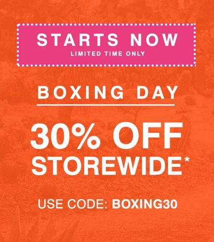 """鞋履品牌 Hush Puppies """"Boxing Day"""" 活动:全场所有商品 用码后可享额外7折优惠!"""