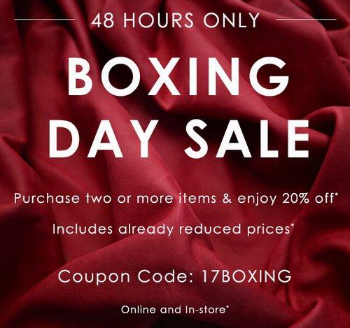 """鞋履品牌 ECCO(爱步) 澳洲官网""""Boxing Day""""活动:全场所有商品购买两件以上可享额外8折优惠!"""