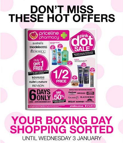 """澳洲药房 Priceline """"Boxing Day""""活动:香水、护肤品、保健品等种类商品低至5折优惠!"""