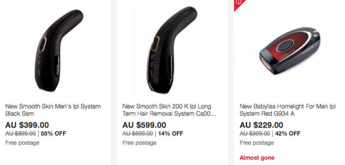 Shaver Shop 官方 eBay 店:博朗、飞利浦、松下、SmoothSkin 等品牌精选电动剃须刀、脱毛器等商品