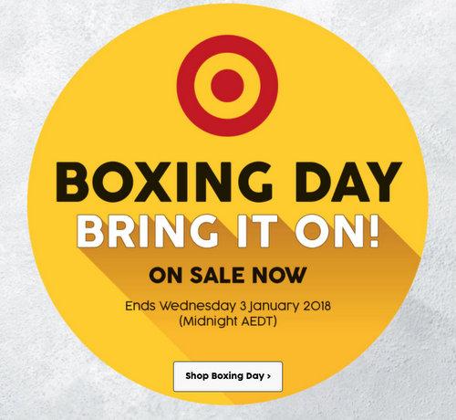 """澳洲超市 Target """"Boxing Day""""活动:部分服装类商品额外5折优惠!"""
