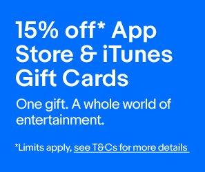 苹果 App Store & iTunes 礼品券 额外85折优惠!