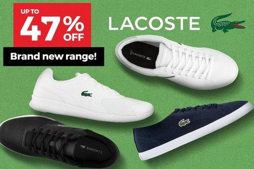 澳洲特卖网站 Catch:法国鳄鱼 Lacoste 品牌 男 女多款休闲鞋子特卖 – 低至53折优惠!