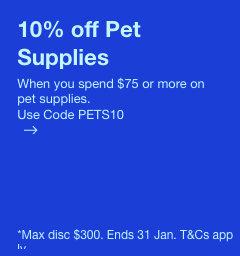 eBay 澳洲:全场所有宠物用品 用码后可享额外9折优惠!