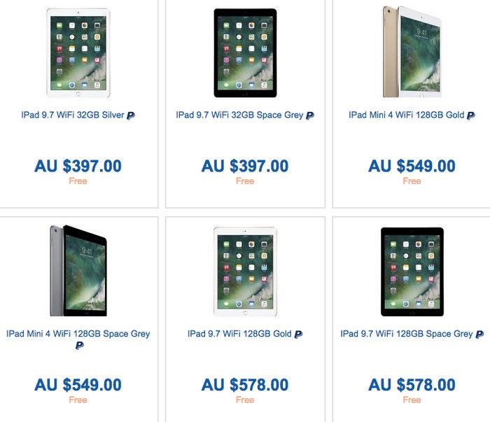 Officeworks 官方 eBay 店 iPad 系列平板电脑额外9折优惠!比官网便宜不少,还能退税!