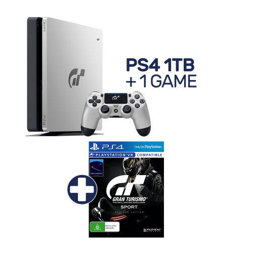 索尼 Sony PlayStation 4 1TB GT Sport 限量版游戏主机 + 游戏套装 74折优惠!
