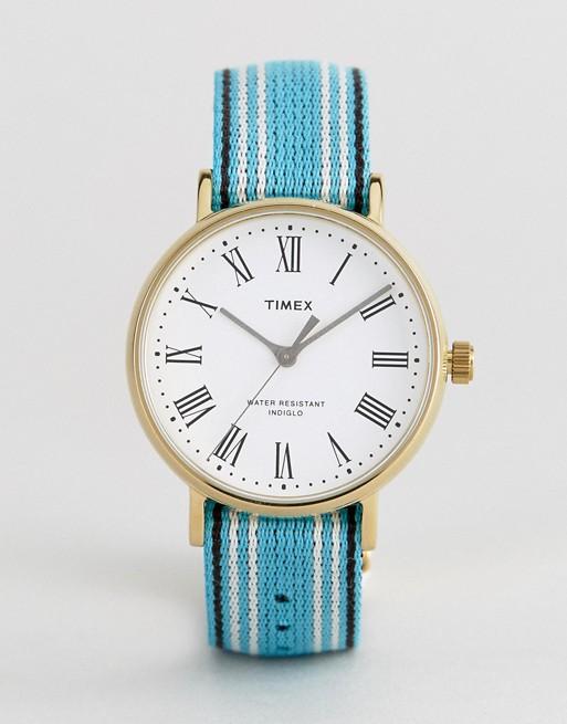 Timex 白色表盘麻绳表带时尚腕表 45折优惠!