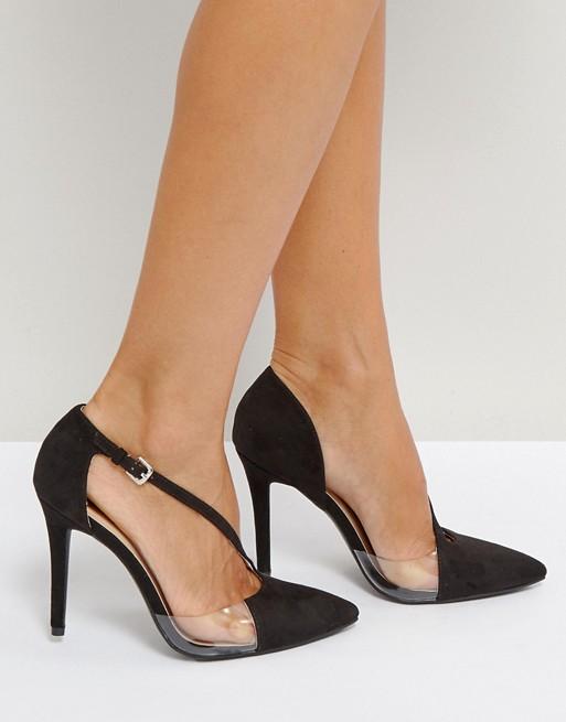Qupid 不对称有机玻璃高跟鞋 52折优惠!