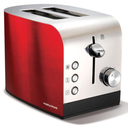 Morphy Richards Accents 红色 2片烤面包机 低至3折优惠!
