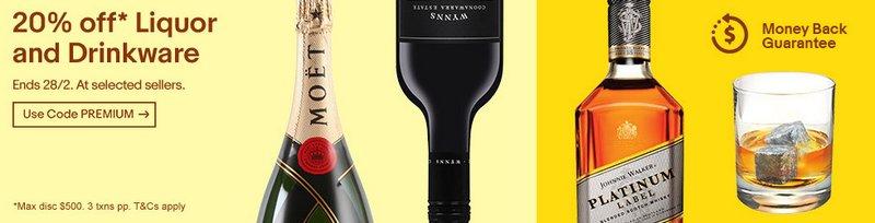 eBay 澳洲:多个酒类专卖商家 全场所有商品额外8折优惠!