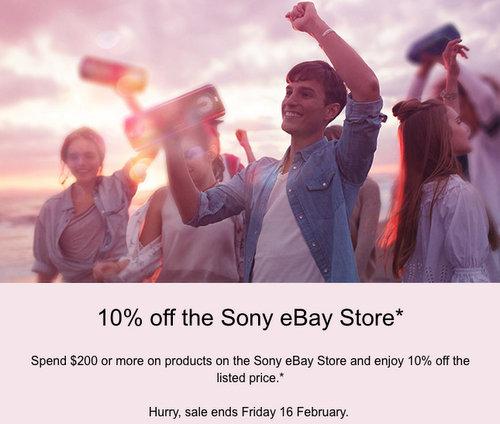 索尼 Sony 官方 eBay 店:全场所有商品购物满$200 可享额外85折优惠!