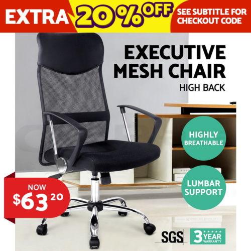 高靠背网格黑色电脑椅 办公椅 低至2折优惠!