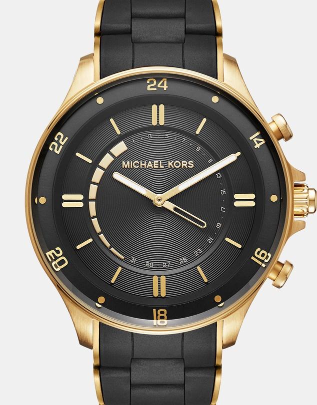Michael Kors Hybrid Smartwatch Reid 黑金智能腕表 7折优惠!