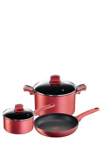 Tefal 特福 不粘炊具3件套 红色 法国产 低至38折优惠!